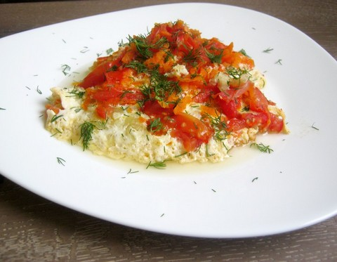 Запеканка с цукини, морковью и томатами