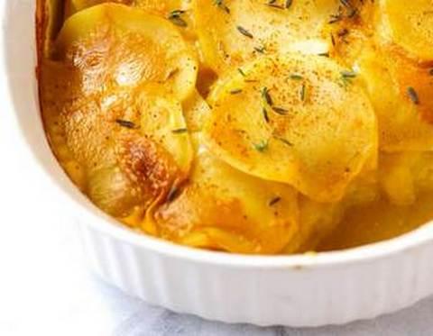 картофель, запеченный с горчицей