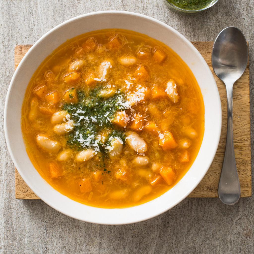 суп с курицей и фасолью